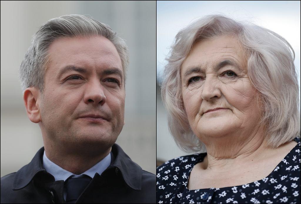 Robert Biedroń i Helena Biedroń