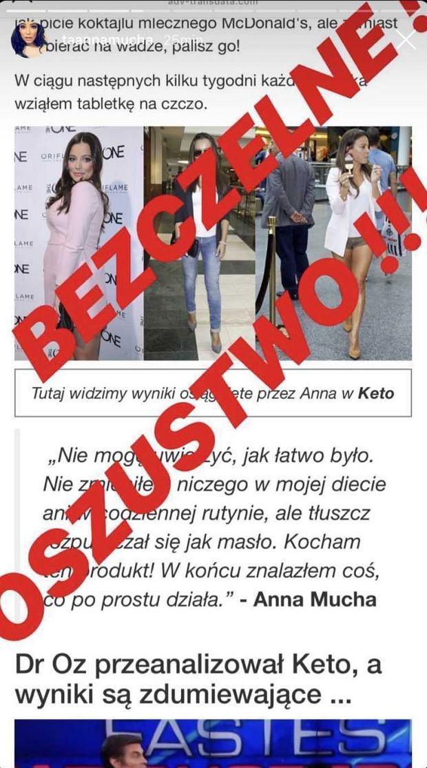 Anna Mucha padła ofiarą oszustwa