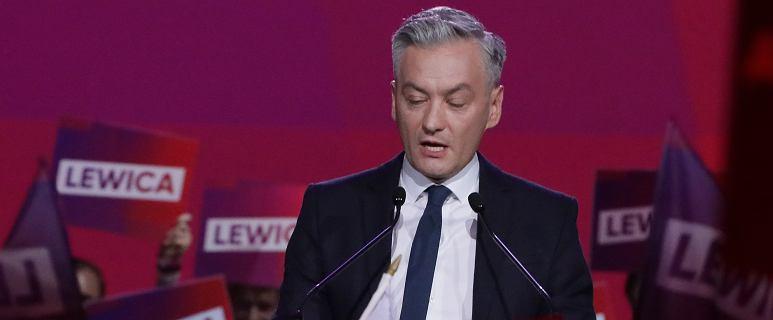 Podczas przemówienia Biedronia na konwencji lewicy zawył arlam