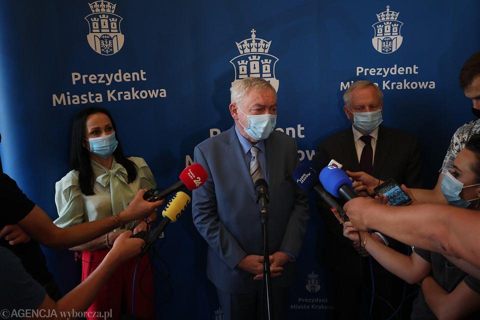 Konferencja prasowa prezydenta Jacka Majchrowskiego, Jerzego Muzyka oraz Katarzyny Olesiak  w sprawie Centrum Muzyki