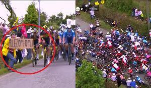 Policja znalazła sprawczynię potężnej kraksy na Tour de France. Grozi jej więzienie