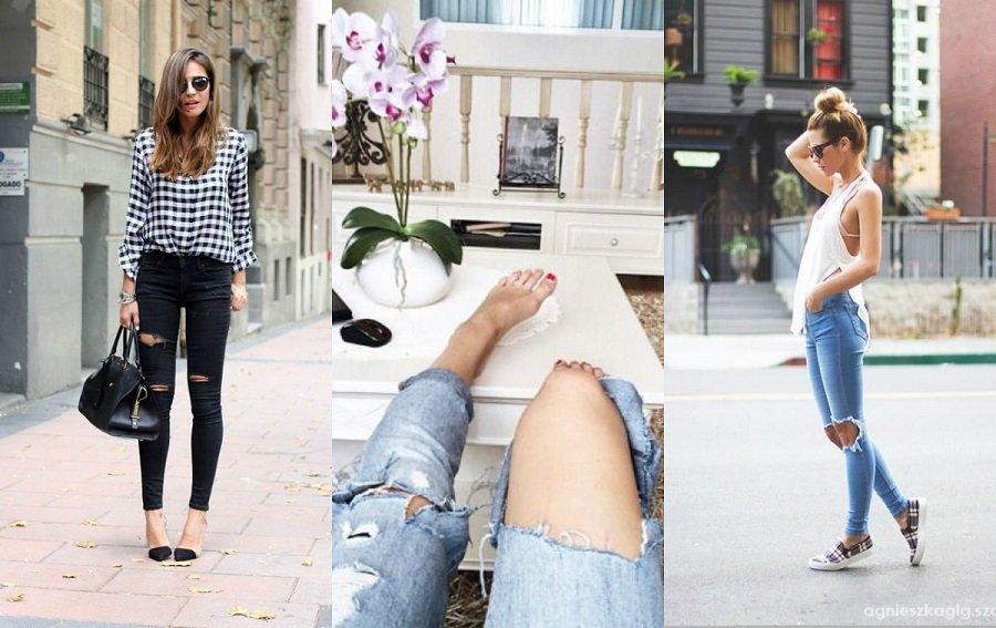 Podarte spodnie jak i z czym nosić je wiosną