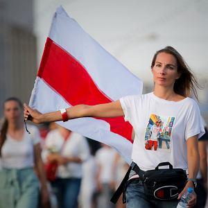 Protest po sfałszowanych wyborach prezydenckich. Mińsk, Białoruś