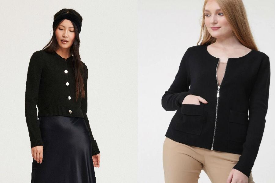 Czarny sweter damski rozpinany
