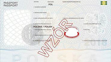 Paszport - wzór z 2018 roku