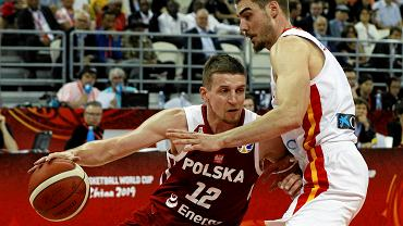 Adam Waczyński na MŚ w 2019 r. w meczu z Hiszpanią.
