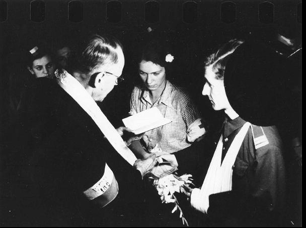 Ślub Alicji i Bolesława Biegów, 13 sierpnia 1944