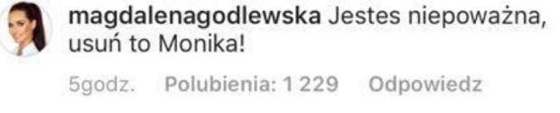 Komentarz Moniki Godlewskiej