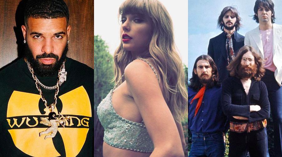 Drake, Taylor Swift, The Beatles