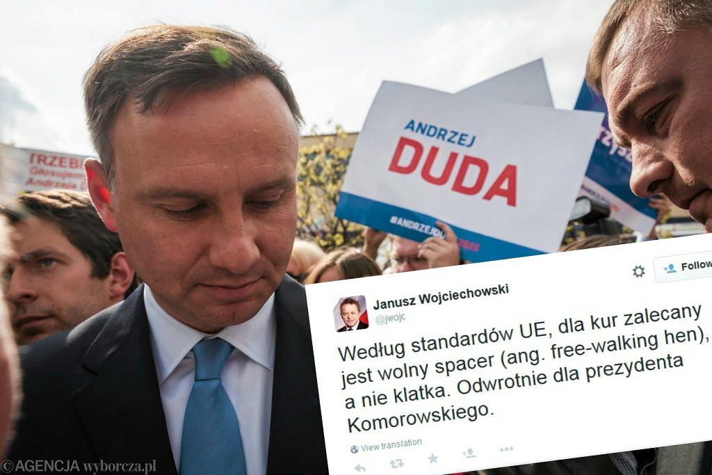 Andrzej Duda | Wpis Janusza Wojciechowskiego