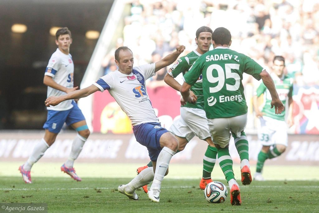 Łukasz Trałka w meczu Lechia Gdańsk - Lech Poznań 1:2