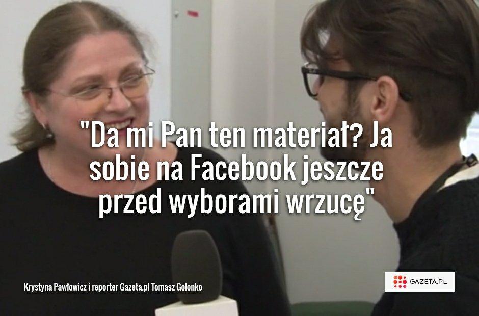 Krystyna Pawłowicz i reporter Gazeta.pl Tomasz Golonko