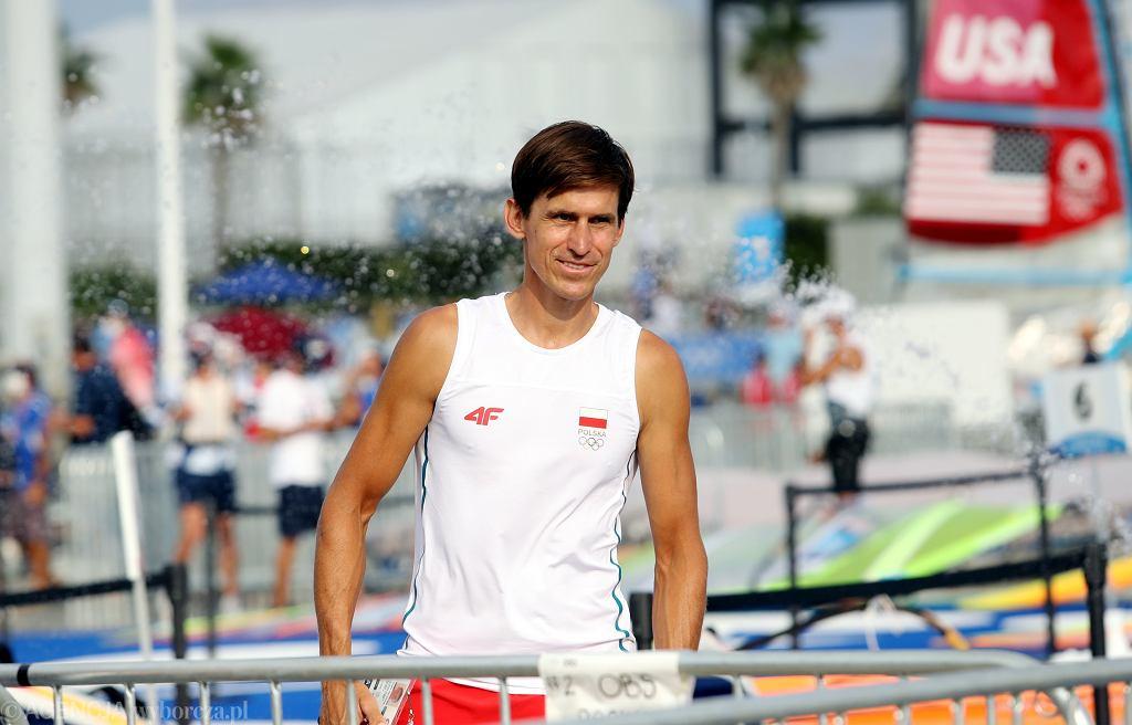 Piotr Myszka po dyskwalifikacji za falstart stracił szansę na brązowy medal na Igrzyskach Olimpijskich w Tokio, 31 lipca 2021 r.