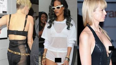 Rihanna, Anna Przybylska, Miley Cyrus.
