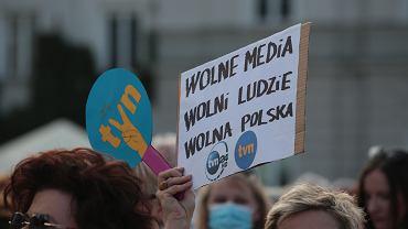 Protesty przeciw 'lex TVN'
