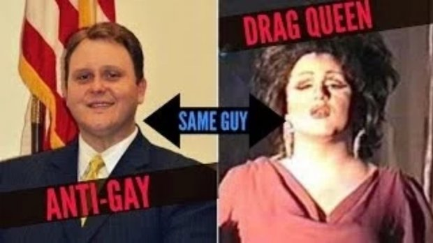 Steve Wiles jako polityk i jako drag queen, fot. NewsyNews/YouTube