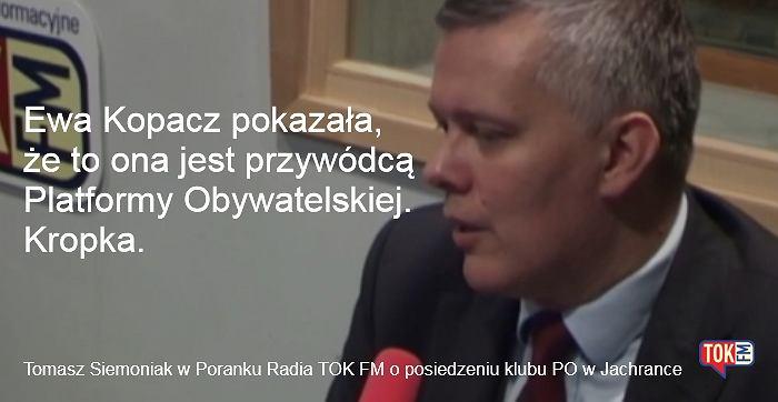 Tomasz Siemoniak w studiu radia TOK FM