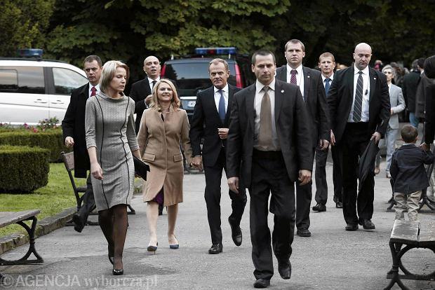 29.09.2013 Gdansk , 70 urodziny Lecha Walesy Nz.premier Donald Tusk z malzonka  fot. Rafal Malko/Agencja Gazeta