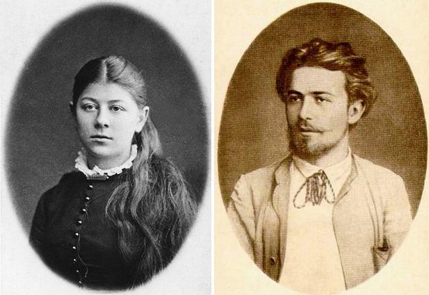 Rodzeństwo Czechowów: Masza i Anton / Fot. Wikimedia Comons/domena publiczna