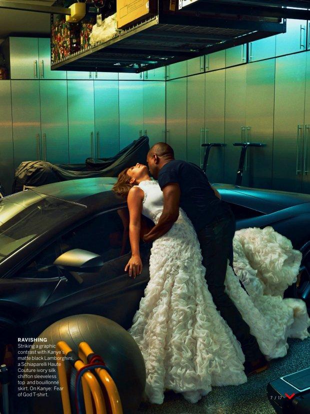 Kim Kardashian i Kanye West dla Vogue US, kwiecień 2014