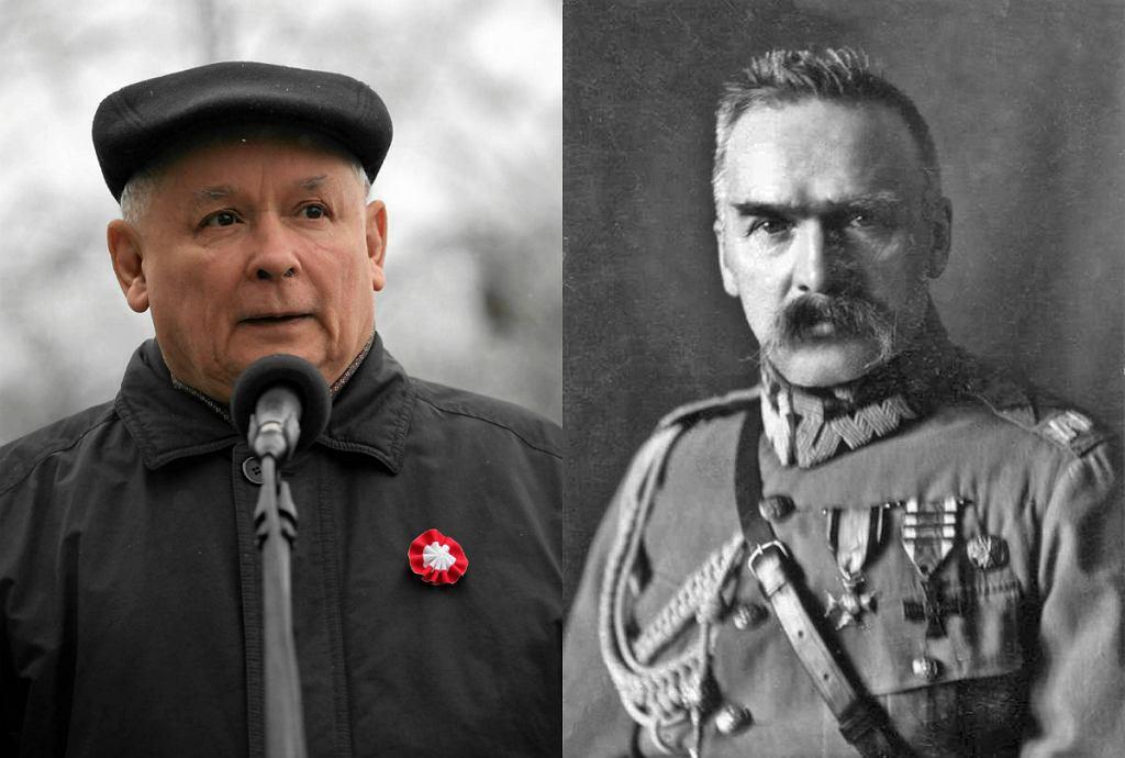 Jarosław Kaczyński, Józef Piłsudski