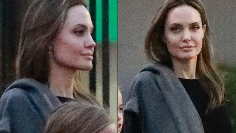 Angelina Jolie na spacerze z córką