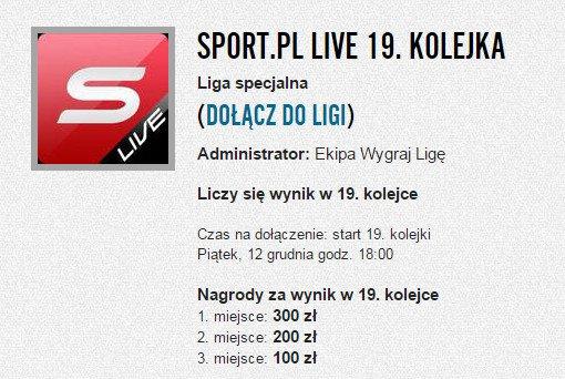 Liga Sport.pl LIVE 19. kolejka