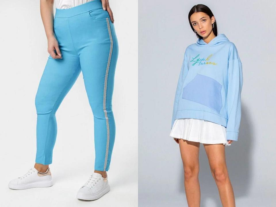 Pastelowe niebieskie dresy