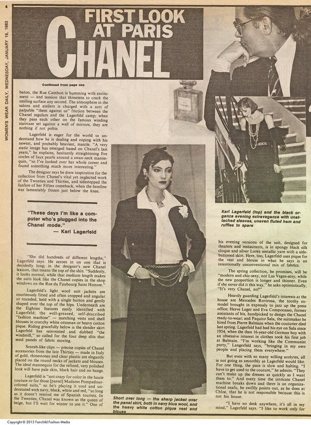 Pierwszy pokaz Karla Lagerfelda dla Chanel