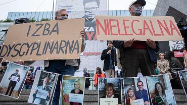 Demonstracja wsparcia dla sędziego Igora Tulei pod Sądem Najwyższym, Warszawa, 9.06.2020 r.