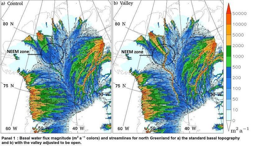 Pod lodami Grenlandii może znajdować się rzeka.