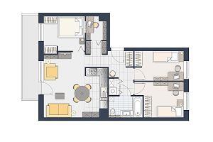 Cztery pokoje na 66 metrach. Jak je wygodnie urządzić?