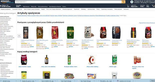 Amazon umożliwia zakupy żywności przez internet