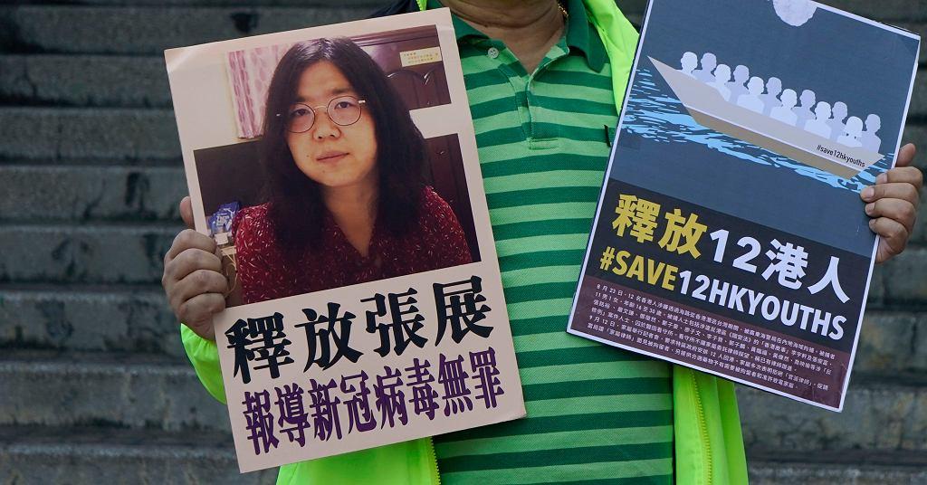 Chińska dziennikarka Zhang Zhan skazana na cztery lata więzienia za opisywanie sytuacji w Wuhanie