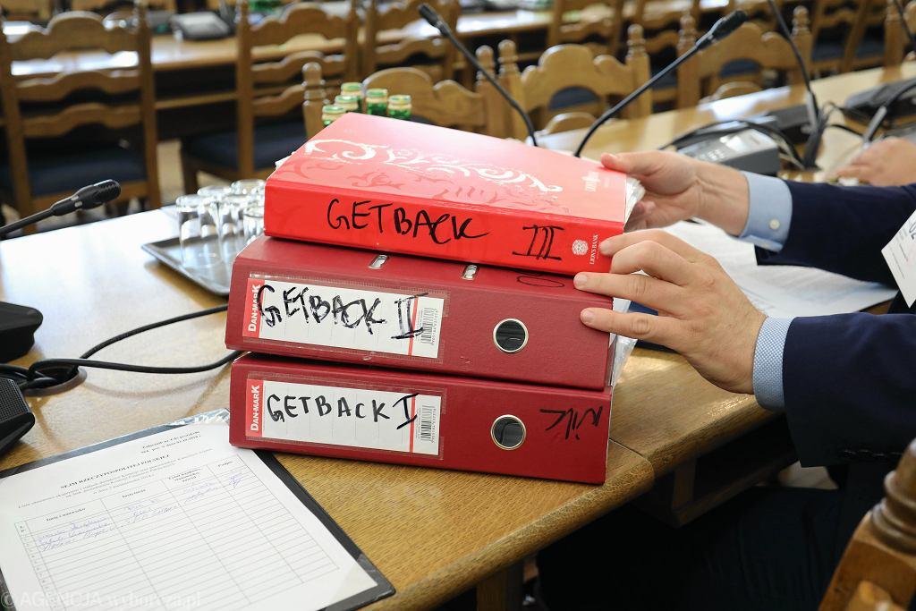 Komisja Finansów Publicznych podczas posiedzenia dotyczącego afery Getback.