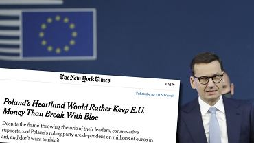 'NYT' o polsko-unijnym sporze