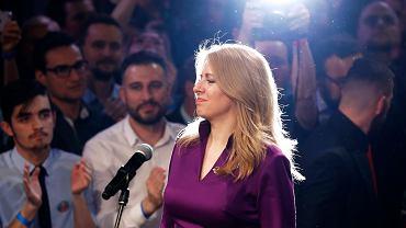 Zuzana Czaputowa wygrywa wybory prezydenckie na Słowacji. Wieczór wyborczy w jej sztabie, Bratysława, 30 marca 2019 r.
