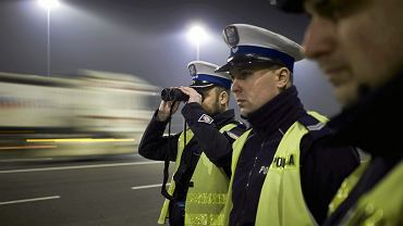 Policja na autostradzie A1