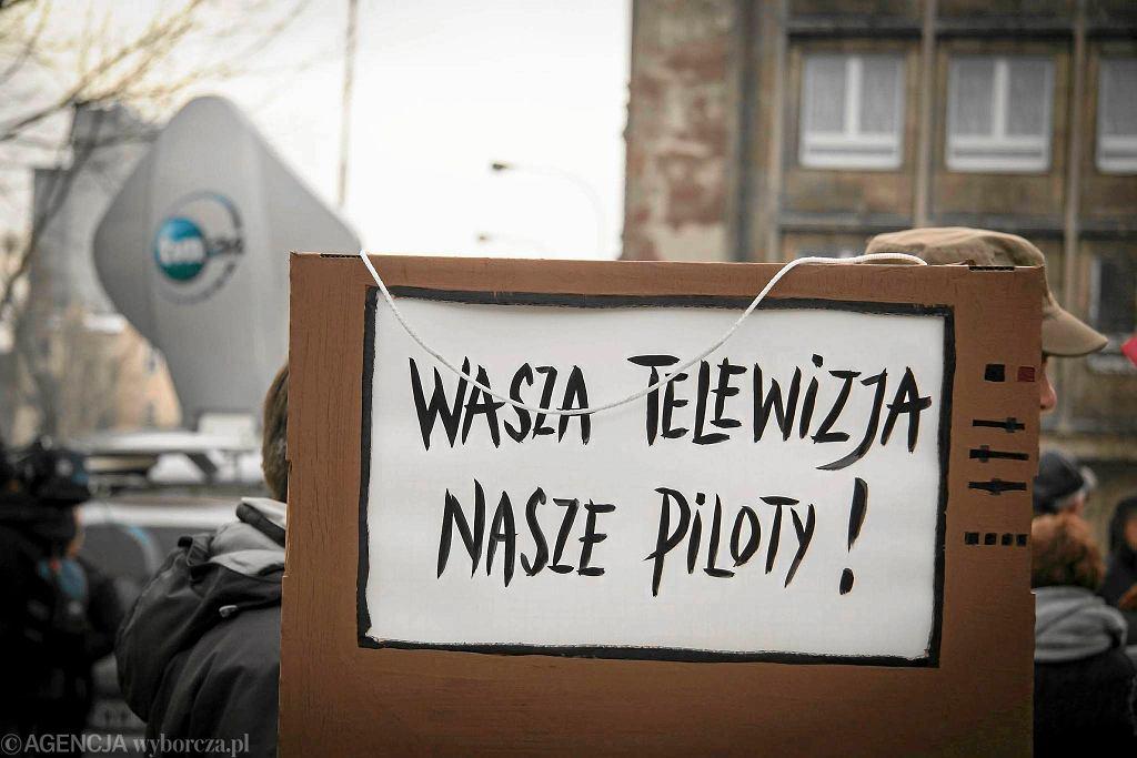 Manifestacja KOD w Łodzi