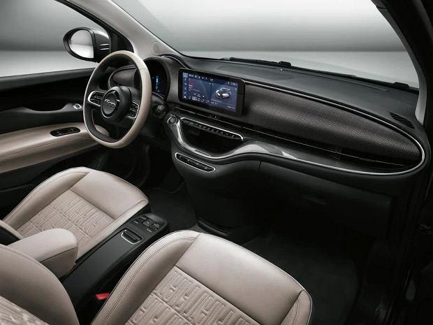 Wnętrze nowego Fiata 500e