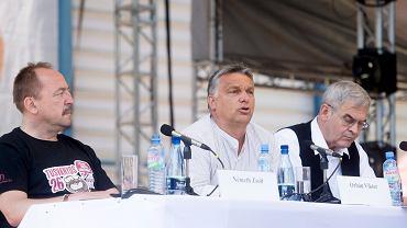 Viktor Orbán podczas przemówienia na XXV Uniwersytecie Letnim w rumuńskim Baile Tusnad