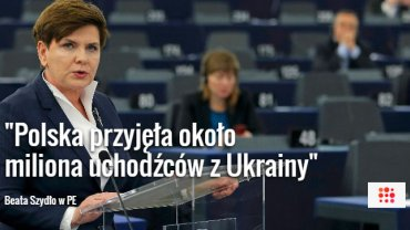 Beata Szydło w Parlamencie Europejskim