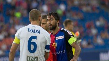 FC Basel - Lech Poznań 1:0 w III rundzie eliminacji do Ligi Mistrzów. Łukasz Trałka, Matias Delgado