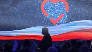 Jarosław Kaczyński podczas konwencji PiS w Krakowie, 19 maja 2019 r.