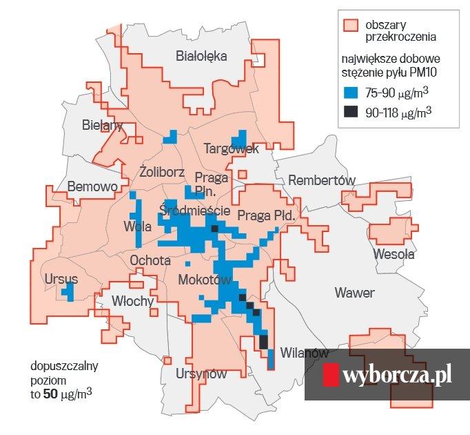 Zanieczyszczenie Powietrza W Warszawie Najgorzej Jest W Wilanowie