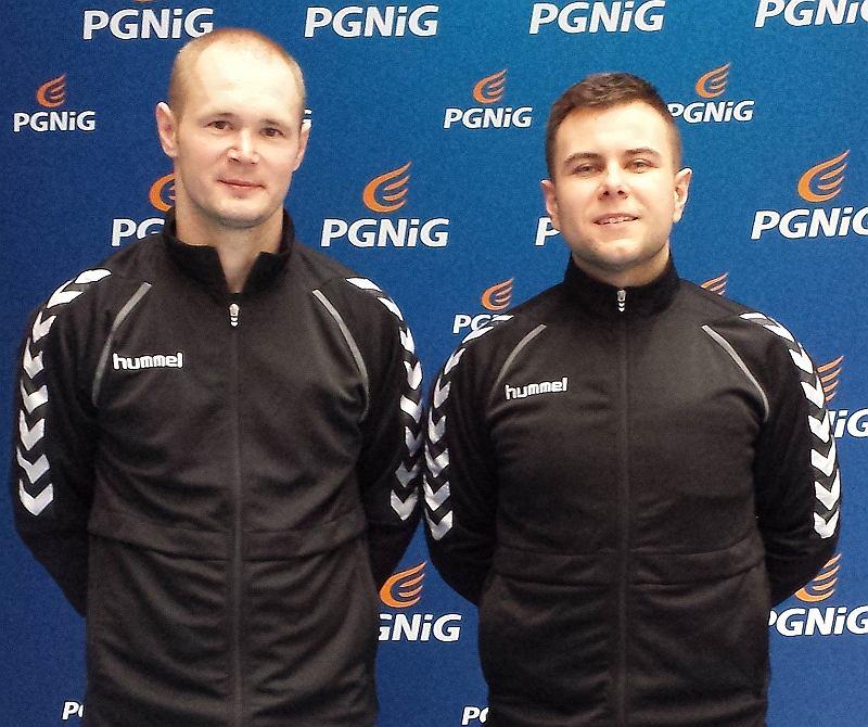 Michał Stachowicz (z lewej) i Paweł Kucharski, radomscy sędziowie piłki ręcznej