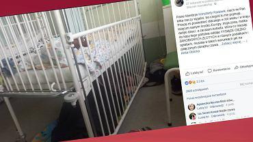 Żona Pana Gniewki musiała spać pod łóżkiem w trakcie opieki nad dzieckiem w szpitalu.
