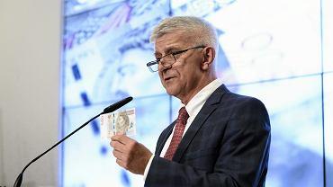 Marek Belka na prezentacji nowego banknotu 500 zł  (fot. Adam Stępień/AG)