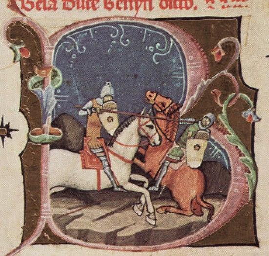 Król Węgier Bela I podczas pojedynku z władcą Pomeranii