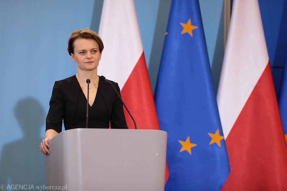 Wicepremier Jadwiga Emilewicz.